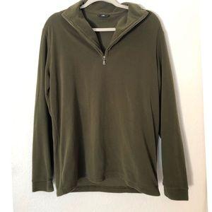 Bogner Khaki Green Microfleece Pullover Size Large